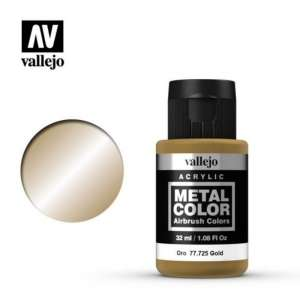 Vallejo 77725 Gold 32ml Acrylic Metal Color