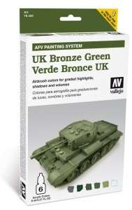 Vallejo 78407 Zestaw Model Air - UK Bronze Green 6x8ml