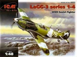WWII Soviet fighter LaGG-3 ICM 48091