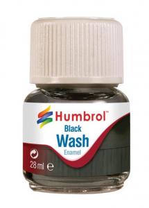 Wash emalia - Black 28ml Humbrol AV0201