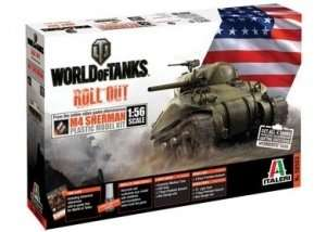 World of Tanks Italeri WOT tank M4 Sherman