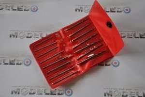 Zestaw 15 wierteł modelarskich 1,05-2,0 mm - ZHSS2