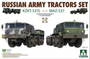 Zestaw 2 ciągników Maz 537 model Takom 5003