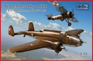 Zestaw 2w1 Wrzesień 1939 samolot PZL. P.11A i 37B Łoś 72528