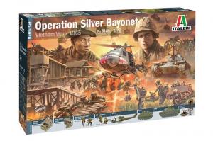Zestaw bitewny Operacja Silver Bayonet wojna w Wietnamie Italeri 6184