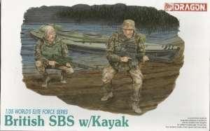 Zestaw figurek brytyjskich komandosow British SBS w/ Kayak Dragon 3023