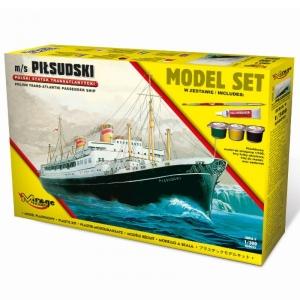 Zestaw modelarski polski statek transatlantycki Piłsudski 850092