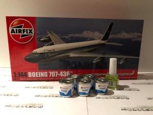 Zestaw modelarski samolot Boeing 707-436 Airfix 05171 z farbami