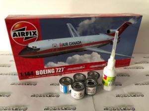 Zestaw modelarski samolot Boeing 727 Airfix 04177 z farbami