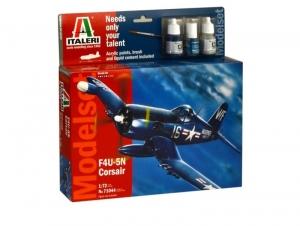 Zestaw modelarski samolot F4U-5N Corsair Italeri 71044