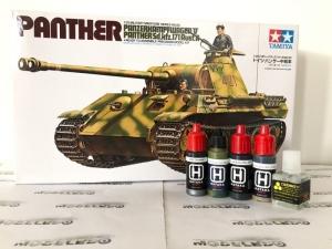 Zestaw modelarski Tamiya 35065 czołg Panther z farbami i klejem