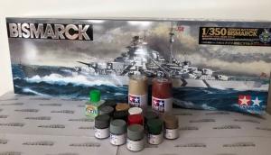 Zestaw modelarski Tamiya 78013 Bismarck z farbami i klejem
