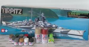 Zestaw modelarski Tamiya 78015 Tirpitz z farbami i klejem