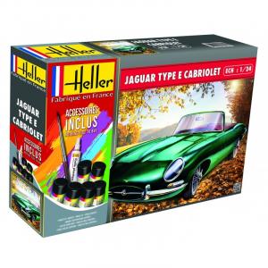 Zestaw modelarski do sklejania Jaguar Type E Cabriolet 328 OTS Heller 56719