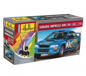 Zestaw modelarski z farbami Subaru Impreza Heller 56194