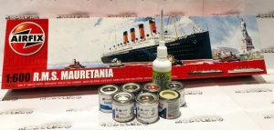Zestaw modelarskie RMS Mauretania z farbami skala 1-600