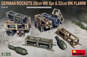 Zestaw niemieckich rakiet 280 i 320mm MiniArt 35316