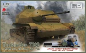Zestaw z farbami - Tankietka TKS z NKM wz.38 IBG E3501