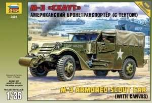 Zvezda 3581 M3 Armored Scout Car with canvas