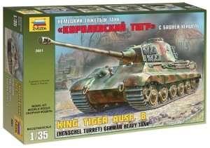 Zvezda 3601 KingTiger Ausf. B Henschel Turret