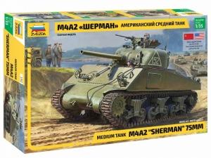 Zvezda 3702 Czołg średni M4A2 Sherman model 1-35