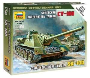 Zvezda 6211 Su-100 Soviet Self-Propelled Gun