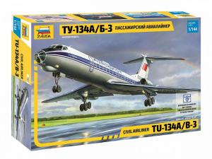 Zvezda 7007 Samolot pasażerski Tupolev Tu-134A/B-3