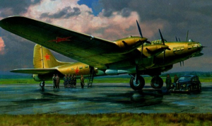 Zvezda 7280 Samolot Petlakow Pe-8 On model 1-72