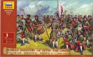Zvezda 8049 Russian Infantry Ot Peter I The Great