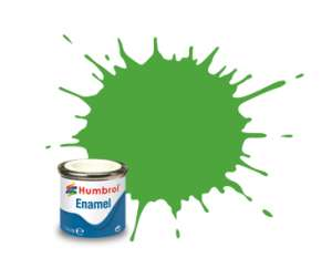 Humbrol 208 Fluorescent Signal Green Gloss - emalia 14ml