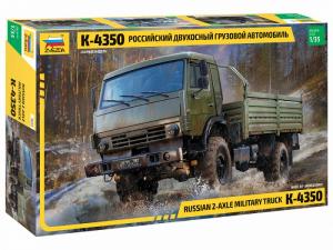 Zvezda 3692 Ciężarówka dwuosiowa K-4350 model 1-35