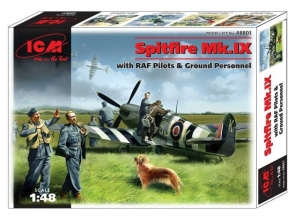 ICM 48801 Samolot Spitfire Mk.IX z figurkami model 1-48