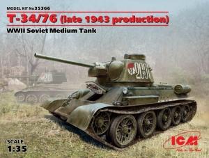 ICM 35366 Czołg T-34/76 prod. 1943 model 1-35
