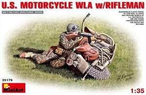 Figurka amerykańskiego strzelca z motocyklem MiniArt 35179