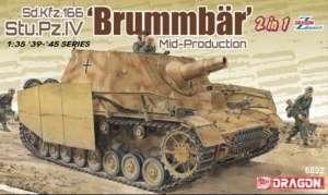 Dragon 6892 Działo pancerne Sd.Kfz.166 Stu.Pz.IV Brummbar 2w1