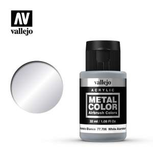 Vallejo 77706 White Aluminium 32ml Acrylic Metal Color