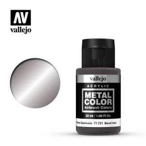 Vallejo 77721 Burnt Iron 32ml Acrylic Metal Color