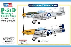 Hobby Boss 85808 Samolot P-51D Mustang żółty nos