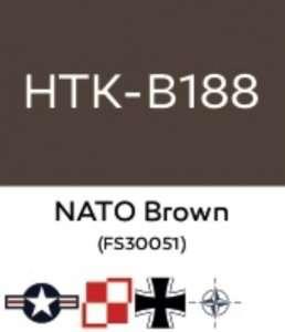 Hataka B188 NATO Brown - farba akrylowa 10ml