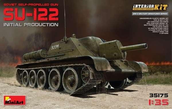 Radzieckie działo samobieżne SU-122 z dokładnie odwzorowanym wnętrzem, plastikowy model do sklejania MiniArt 35175 w skali 1:35-image_MiniArt_35175_1