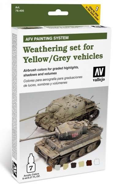 Zestaw do weatheringu - żółte i szare pojazdy, Vallejo 78405.-image_Vallejo_78405_1