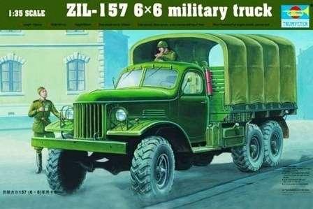 Model wojskowej ciężarówki ZIL-157 z napędem 6x6 do sklejania, model Trumpeter 01001 w skali 1:35.-image_Trumpeter_01001_1
