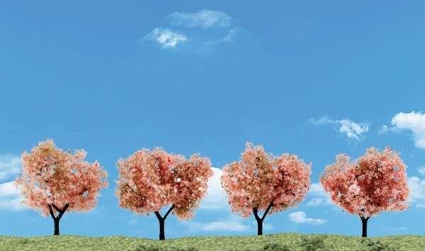 Elementy do makiet, dioram, itp. - drzewka owocowe / kwitnące - 4 szt - Woodland Scenics TR3593-image_Woodland Scenics_TR3593_1