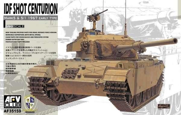 Czołg IDF Shot Centurion Mk. 5, plastikowy model do sklejania AFV AF35159 w skali 1:35-image_AFV Club_AF35159_1