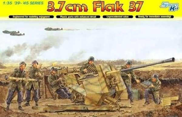 Niemieckie działo przeciwlotnicze FlaK 37, plastikowy model do sklejania Dragon 6483 w skali 1:35-image_Dragon_6483_1