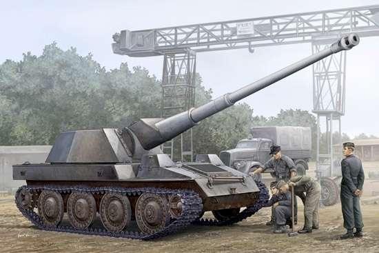Niemieckie samobieżne działo Waffentrager , plastikowy model do sklejania Trumpeter 01598 w skali 1:35-image_Trumpeter_01598_1