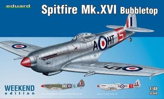 Brytyjski myśliwiec z okresu WWII Spitfire Mk.XVI Bubbletop, plastikowy model do sklejania-image_Eduard_84141_1