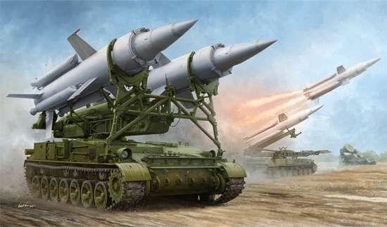 Radziecka samobieżna wyrzutnia rakiet 9M8M systemu rakiet 2K11A Krug, plastikowy model do sklejania Trumpeter 09523 w skali 1:35-image_Trumpeter_09523_1