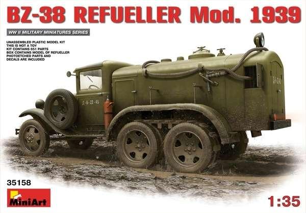 Plastikowy model radzieckiej cysterny BZ-38 w skali 1:35 firmy Miniart.-image_MiniArt_35158_1