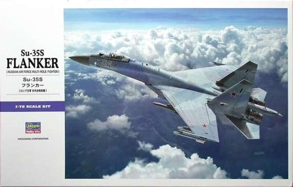 Rosyjski myśliwiec wielozadaniowy Su-35s Flanker, plastikowy model do sklejania Hasegawa 01574 E44 w skali 1:72-image_Hasegawa Hobby Kits_01574_1